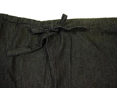男物メンズデニム作務衣オールシーズンOK自宅で洗えるインディゴブルー系M/L/LL