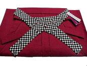 仕立て上がり袴はかま卒業式紐が柄物のおしゃれな袴女性用紅赤系S・M・L