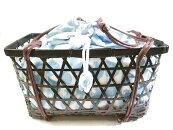 かごバッグ竹籠付き巾着ゆかた用巾着浴衣バッグ