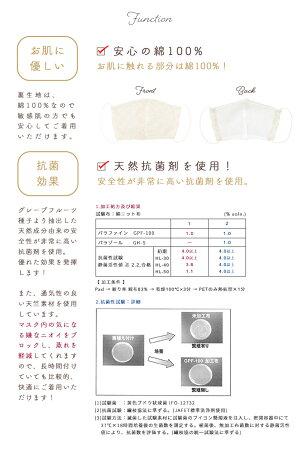 抗菌素材の洗えるマスク
