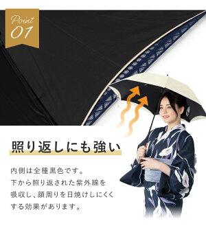 紫外線防止加工の日傘