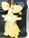【バッグチャーム】おめかしウサギ(ベージュ)ウサギさん身長約17センチ...