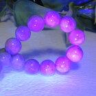 【天然石】ハックマナイト12ミリ☆カラーチェンジ☆紫外線☆ハックマン石☆ブルー☆パープル☆青から紫に☆
