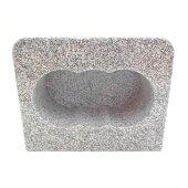 【墓石】【お墓参り】【花立】【ステンレス香皿】【送料無料】香炉角型「白御影石」【ポイント5倍】