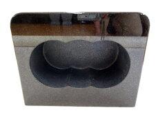 【墓石】【お墓参り】【花立】【ステンレス香皿】【送料無料】香炉角型「黒御影石」【ポイント5倍】