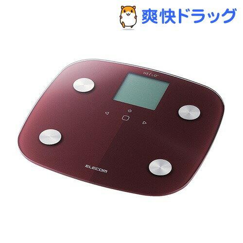 エレコム ハロー 体組成計 レッド HCS-RFS01RD(1台)【エレコム(ELECOM)】【送料無料】