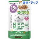 爽快ドラッグで買える「ミャウミャウ ジューシー 15歳頃からのおさかなミックス(70g【ミャウミャウ(Miaw Miaw】」の画像です。価格は60円になります。