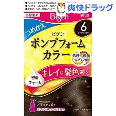ビゲン ポンプフォームカラー つめかえ剤 6 ダークブラウン(50mL+50mL)【ビゲン】