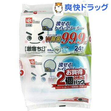 激落ちくん 流せる除菌トイレクリーナー 99.9%除菌(24枚入*2コパック)【激落ち(レック)】