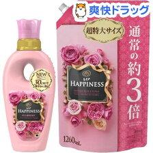 レノア ハピネス アンティークローズ&フローラルの香り 本体+つめかえ 超特大セット(1セット)【レノアハピネス】