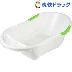 永和 ベビーバス 床置きタイプ 白/緑(1コ入)【HLS_DU】 /【ベビークラフト】[ベビー用品]【送料無料】