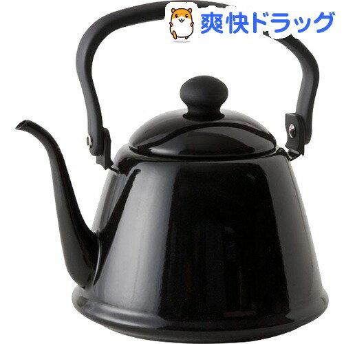 野田琺瑯 ドリップケトルII ブラック DK-200BK(1コ入)【zaiko_20_more】【野田琺瑯】
