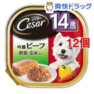 シーザー14歳からの吟選ビーフ 野菜・玄米入り(100g*12個セット)【シーザー(ドッグフード)(Cesar)】