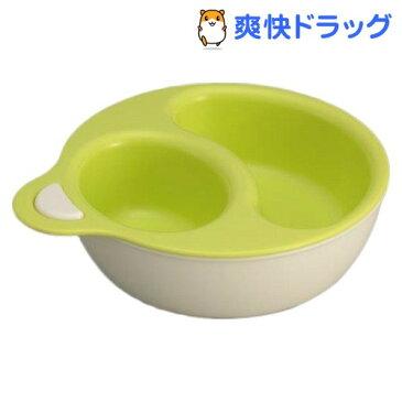 日本製 レンジ対応離乳食プレート グリーン (主食用プレート、主菜・副菜用プレート)(1セット)
