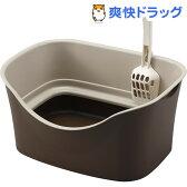 ラクラク猫トイレ ダブルブロック ブラウン(1セット)【送料無料】
