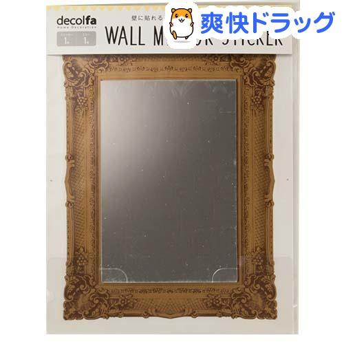 デコルファ ウォールミラーステッカー スクエアゴールド M3920(1枚入)【デコルファ】