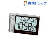 カシオ 電波置時計 シルバー DQD-240J-8JF(1コ入)