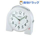 カシオ 置時計 パールホワイト TQ-377-7JF(1コ入)
