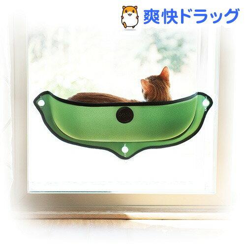 K&H EZ マウント ウィンドウ ベッド グリーン(1コ入)【送料無料】