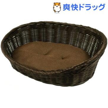 ペットプロ 手編みカラーベッド Mサイズ ブラウン(1コ入)【ペットプロ(PetPro)】【送料無料】