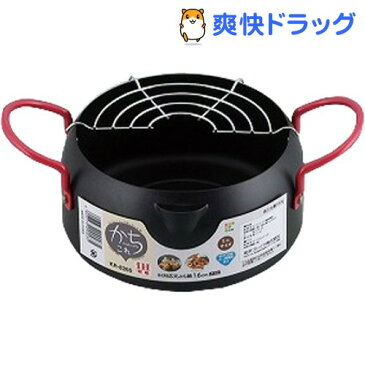かちこれ IH対応天ぷら鍋16cm(アミ付) KR-8265(1コ入)