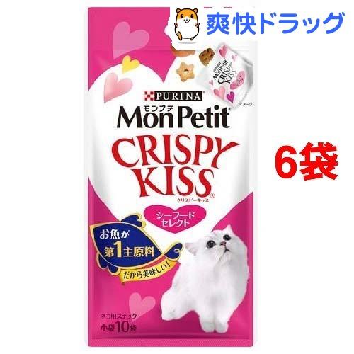 モンプチ クリスピーキッス シーフード(3g*10袋入*6コセット)【d_mon】【モンプチ】