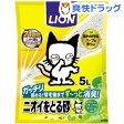 猫砂 ニオイをとる砂 リラックスグリーンの香り(5L)【ニオイをとる砂】[ペット用品]