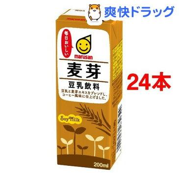 マルサン 豆乳飲料 麦芽(200mL*12本入*2コセット)