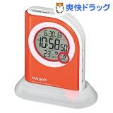 カシオ 電波置時計 オレンジ DQD-410J-4JF(1コ入)