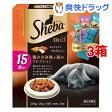 【おまけ付き】シーバ デュオ 15歳以上 鶏ささみ味と海のセレクション(200g*3コセット)【シーバ(Sheba)】