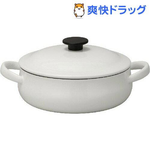 野田琺瑯 ルーク 浅型キャセロール ホワイト 25cm(1コ入)