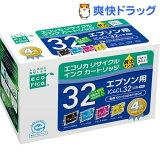 エコリカ エプソン 4色パック IC4CL32(1セット)