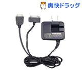 ネクシー FOMA+iPhone 1600mA大出力ACチャージャー PNAC2-Fi-BK(1コ入)
