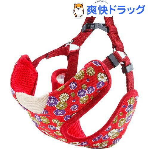 犬雅 桜と菊ベストハーネス S レッド(1コ入)【ペティオ(Petio)】