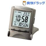 カシオ 置時計 メタリックグレー PQ-50J-8(1コ入)