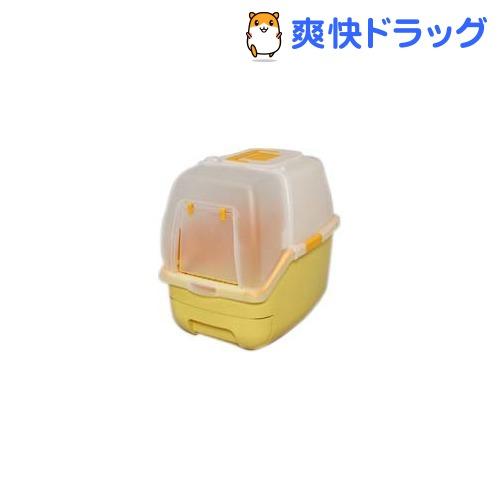 アイリス 楽ちん猫トイレ フード付きセット オレンジ(1セット)[ペット用品]【送料無料】