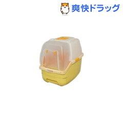 アイリス 楽ちん猫トイレ フード付きセット オレンジ☆送料無料☆アイリス 楽ちん猫トイレ フー...