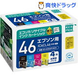 エコリカ エプソン 4色パック IC4Cl46(1セット)