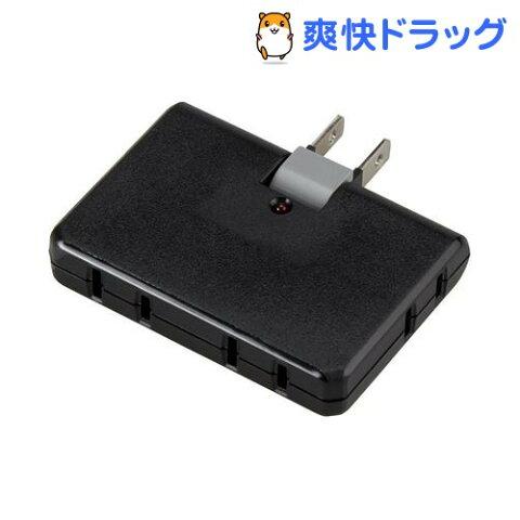 雷ガード付4個口コーナータップ ブラック Y02CK400BK(1コ入)