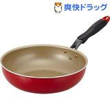 エバークック 深型フライパン 28cm炒め レッド(1コ入)【エバークック(evercook)】