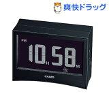 カシオ 電波置時計 ブラック DQD-S01J-1JF(1コ入)