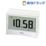 カシオ 電波置時計 ホワイト DQD-S01J-7JF(1コ入)