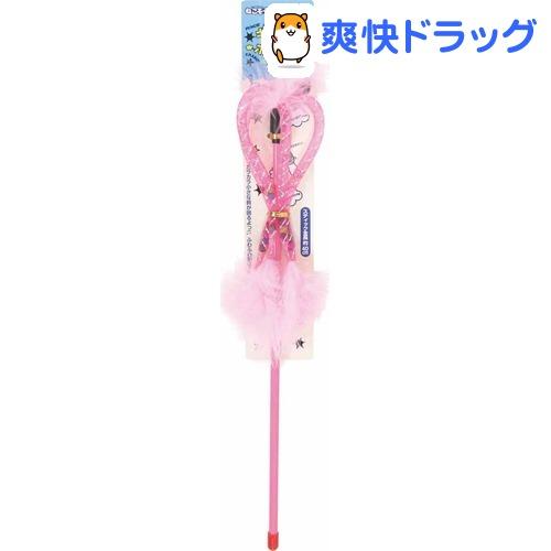 ねこモテ じゃらしフワリ ピンク(1本入)【ねこモテ】