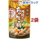 横綱 地鶏だしちゃんこ鍋用スープ 味噌味(750g*2コセット)