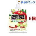 大粒アロエinクラッシュタイプの蒟蒻畑 りんご味(150g*