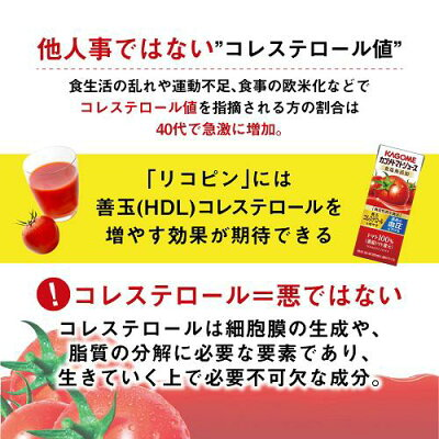 カゴメ トマトジュース 食塩無添加(200ml*48本セット)【h3y】【q4g】【カゴメジュース】 画像2