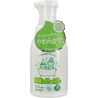 miyoshi家族的肥皂泡沐浴露鬆軟的花香的香味600ml[MIYOSHI SOAP]