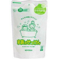 miyoshi家族的肥皂泡沐浴露替換用鬆軟的花香的香味550ml[MIYOSHI SOAP]