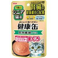 供上級貓使用的健康的罐子小袋膳食纖維加金槍魚40g[aishia]