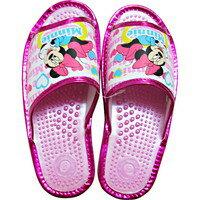 健康襪子拖鞋米妮老鼠婦女的一種尺寸適合所有粉紅色 FF2006S11 [拖鞋專業榮譽]